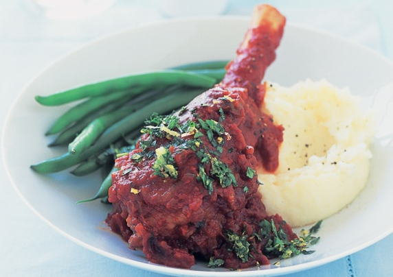 Image 1 for Red Wine & Garlic Lamb Shanks
