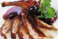 Image 1 for Roast duck with cherry sauce